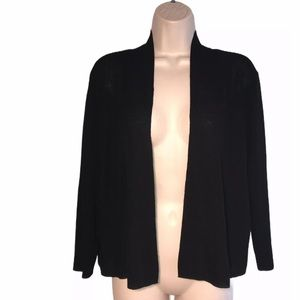 Eileen Fisher Viscose Knit Cropped Cardigan